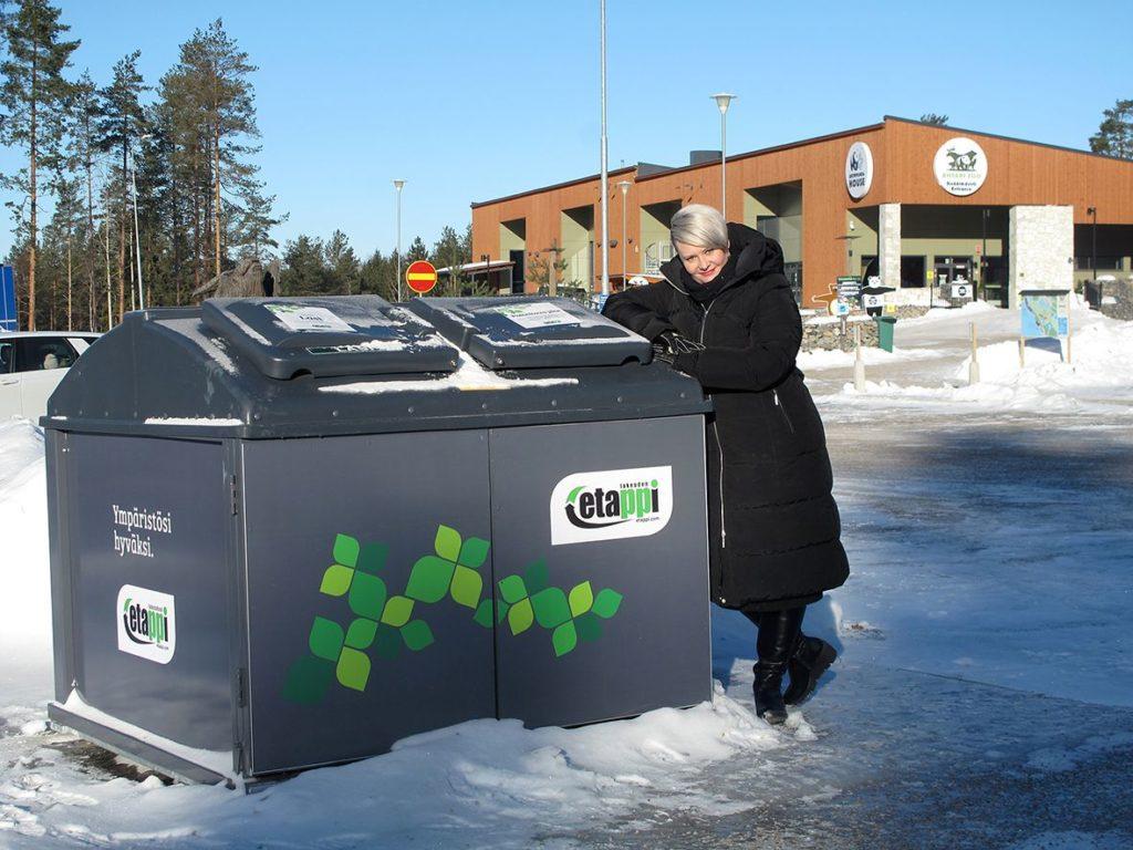 Jonna Pietilän mukaan Ähtäri Zoon vierailijat osaavat hyvin käyttää alueella olevia roskiksia ja ekopistettä, niin että alue pysyy siistinä.