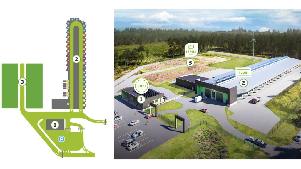 Kierrätyspiste kartta